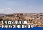 UN-Resolution gegen Siedlungen