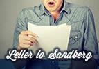 Letter to Sandberg