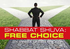 Shabbat Shuva: Free Choice