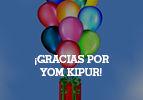 ¡Gracias por Yom Kipur!