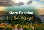 Klare Position FÜR Israel