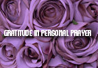 Gratitude in Personal Prayer