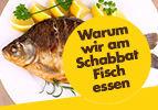 Juden essen Fisch am Sabbat