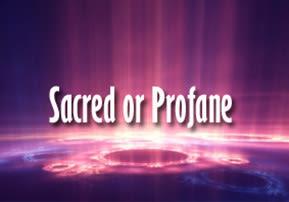 Shmini: Sacred or Profane