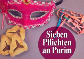 Sieben Pflichten an Purim