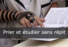 Prier et étudier sans répit !