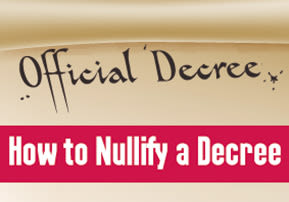 How to Nullify a Decree
