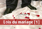 Lois du mariage [1]