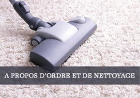 A propos d'ordre et de nettoyage