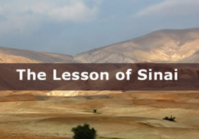 The Lesson of Sinai