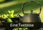 Eine Teetasse