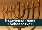 Недельная глава  «Беаалотха» - Беседы о Торе