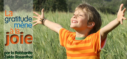 La gratitude mène à la joie