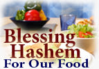 Blessing Hashem for our Food