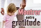 Montrer notre gratitude