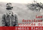 Les dernières volontés du rabbin Klein