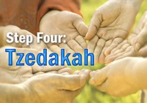 Step Four: Tzedakah