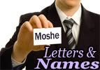 Letters and Names