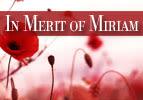 Chukat: In Merit of Miriam