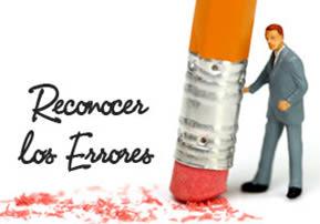 Reconocer los Errores