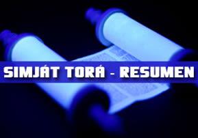 Simját Torá - Resumen