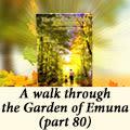 A walk through the Garden of Emuna (part 80)