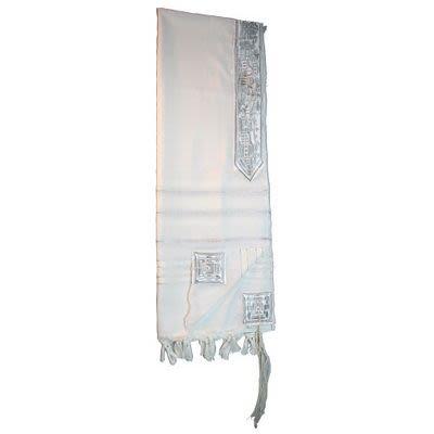 Silver Acrilan Talit