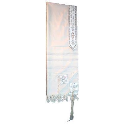 Großer Talit (Gebetsmantel), Acryl, Größe 60