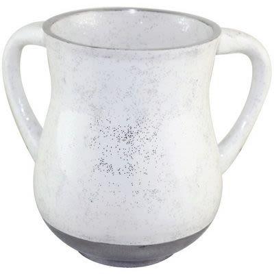 "Netilat Jadaim Wasserbehälter ""Glitter"" (Weiß)"