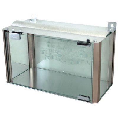 Glass Menorah Case