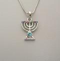 Chaine et pendentif en Menorah
