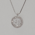 Rhodium Necklace & Shema Yisrael Pendant
