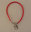 Bracelet kabbala rouge avec le pendentif HAI