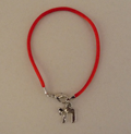 """Каббалистический красный браслет с кулоном """"Хай"""""""