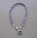 Bracelet en tresse violet