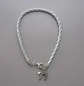 Silver Braided Chai Bracelet