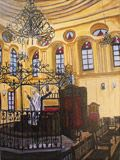Synagogue Oil on Canvas Print