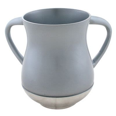 Metallic Grey Hand Washing Cup