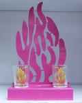 """Стойка для субботних свечей """"Мой огонь""""  (розовый)"""