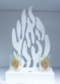"""My Fire"" Shabbat Candles Stand"