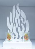 """Schabbat Kerzenständer """"Mein Feuer"""" (weiß)"""