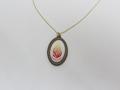 """Halskette """"Mein Feuer"""" farbig (Bronze)"""