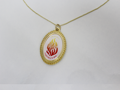 """""""My Fire"""" Necklace in Gold"""
