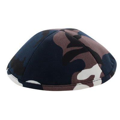 Кипа из армейской маскировочной ткани с коричневыми пятнами