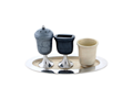 Havdalah Set, Cream and Grey