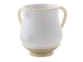Washing Cup in White & Cream