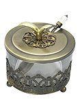 Rosh HaShanah Honey Jar with Brass Inlay