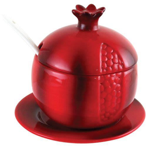 צנצנת דבש בצורת רימון אדום - קטן