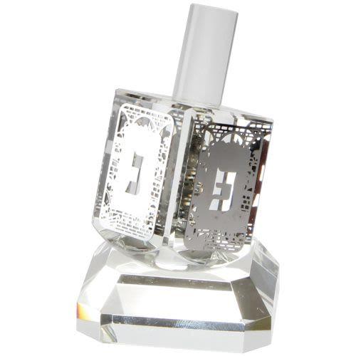 Стеклянный севивон - волчок серебряного цвета