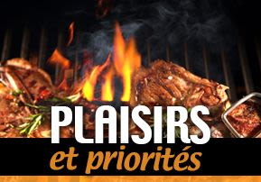 Plaisirs et priorités